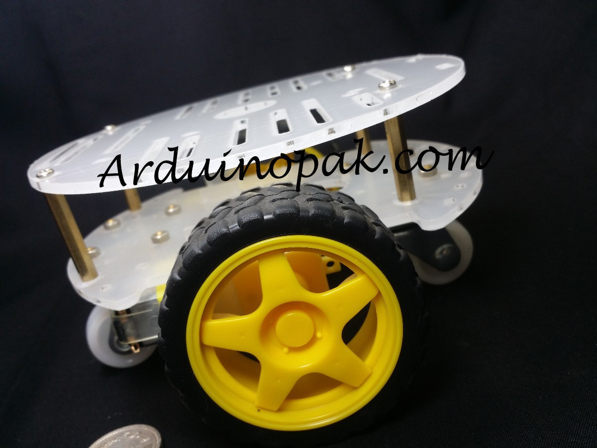 Smart car chassis Robot with wheels and 2 plates