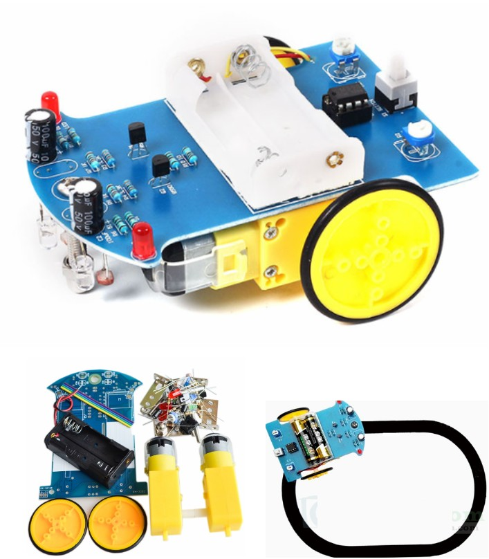 D2-1 Intelligent Tracking Car Kit 3V Small Smart c