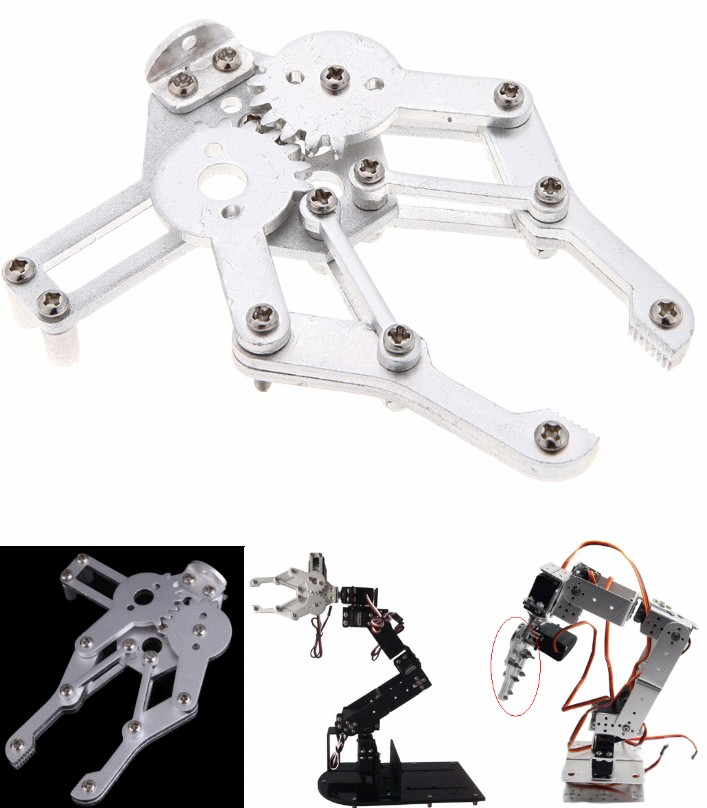 Metal Alloy 6 DOF Robot Arm Clamp Claw & Swivel St