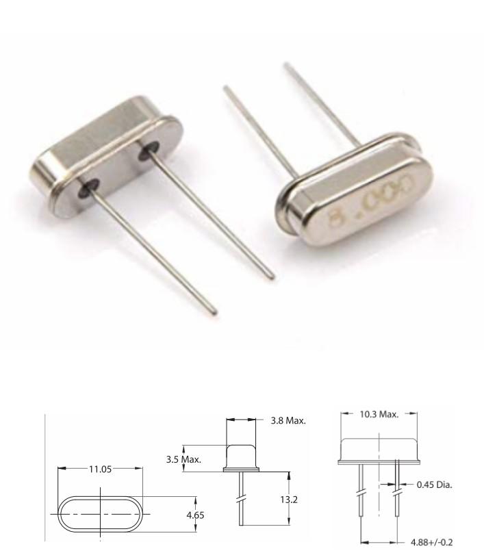 8MHz HC-49S DIP Passive Crystal Oscillator