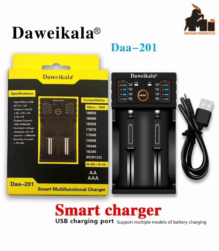Daweikala 18650 smart Battery charger 1.2V 3.7V 3.2V 3.85V AA /AAA 26650 10440 1