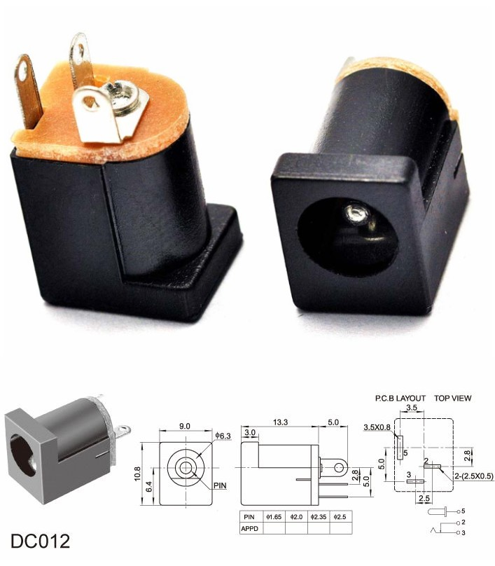 DC-012 DC Power jack socket connector adapter 180