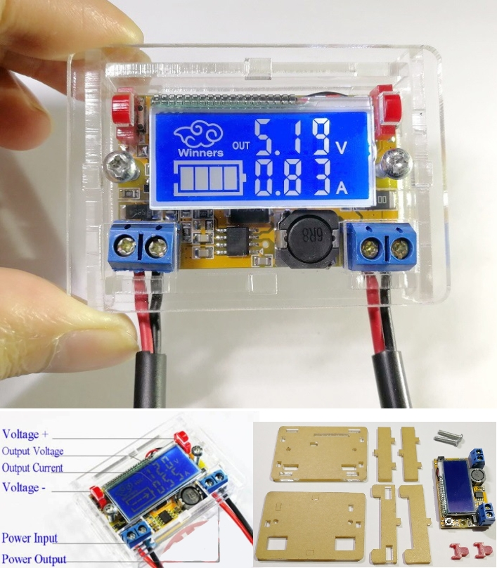 LCD DC-DC Adjustable Buck Step Down Power Supply