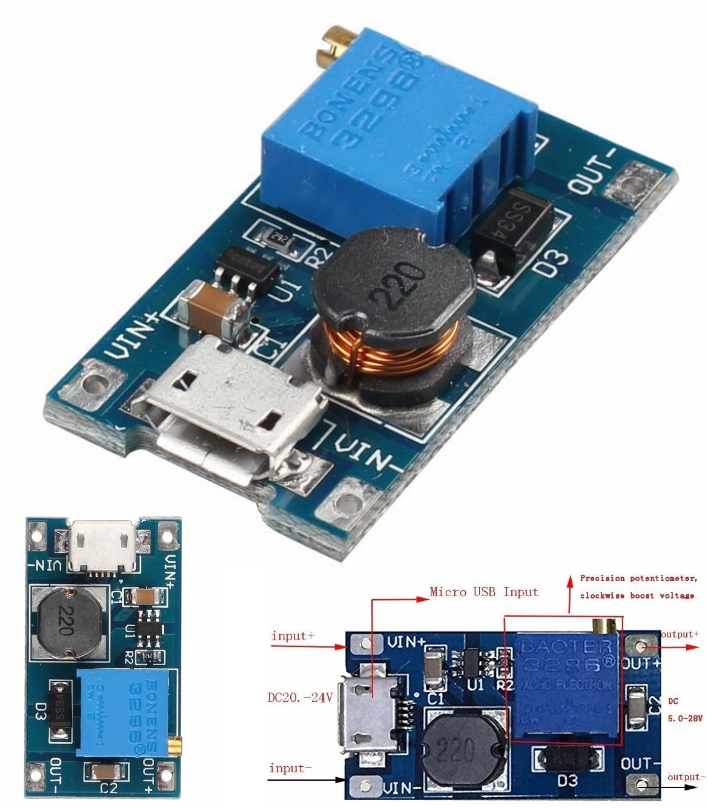 2A B6287 Booster Board DC-DC Step Up Power Module