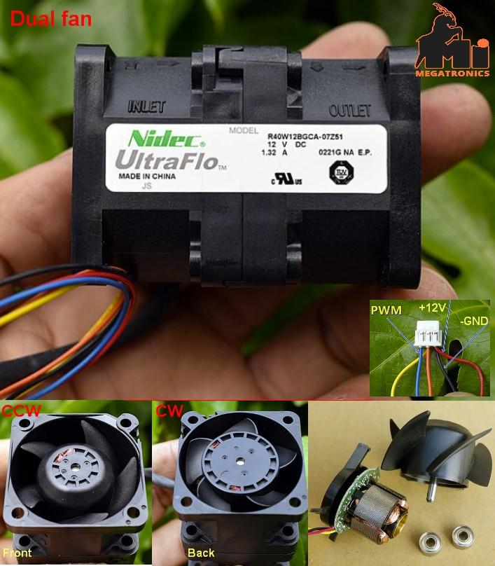 DC12V Japan Nidec Super high speed fan 4056 Server Cooling High Speed ??Brushles