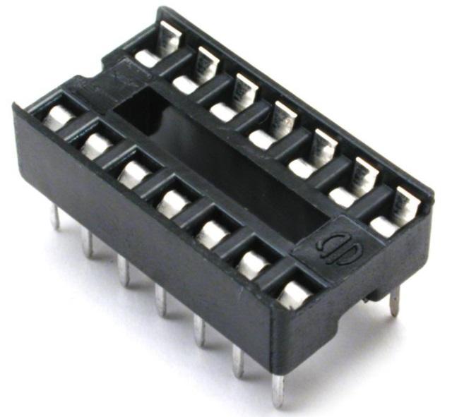 DIP Socket Solder Tail  14 Pin 0.3 inch