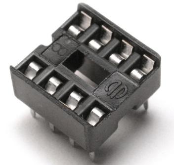 DIP Socket Solder Tail  8 Pin 0.3 inch
