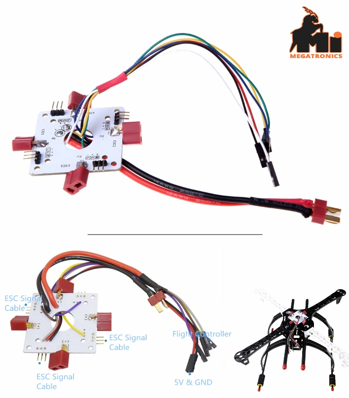 APM PX4 4 Channel quadcopter power distribution board PDB