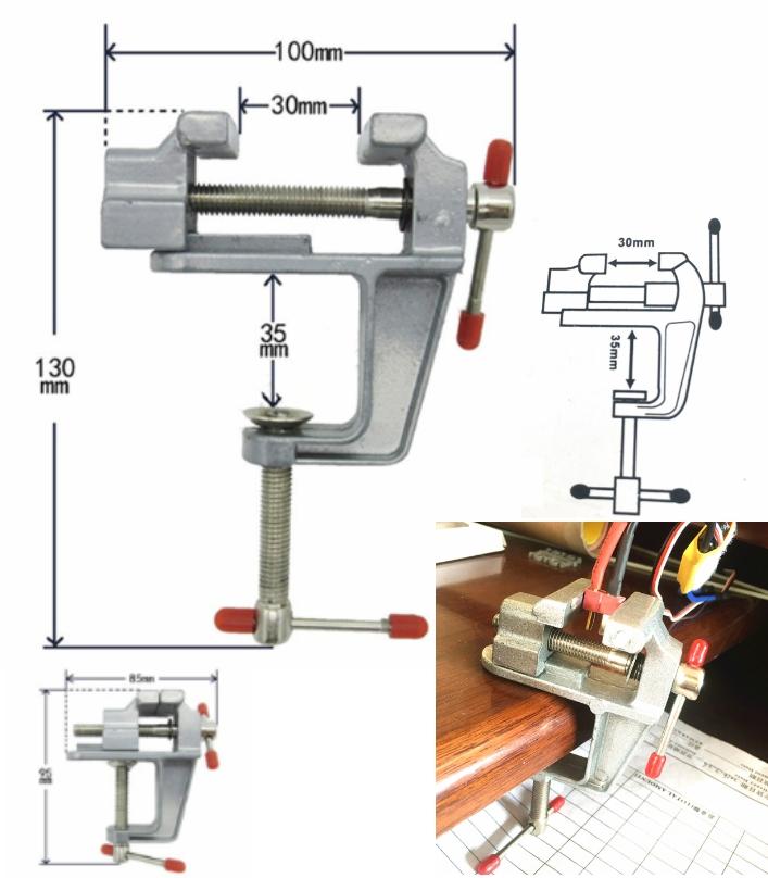 Mini DIY Vise vice aluminum alloy tool gripper