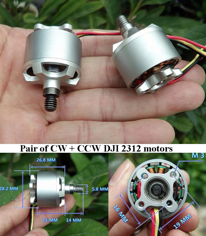 960KV DJI 2312 CW+CCW Brushless motors