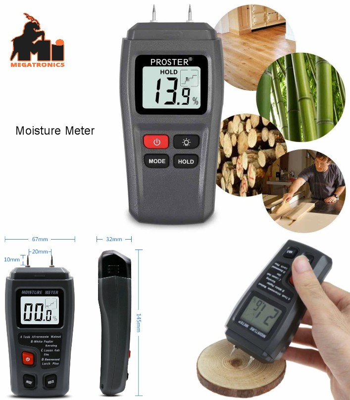Digital Moisture Meter Damp Tester Dampness Meter
