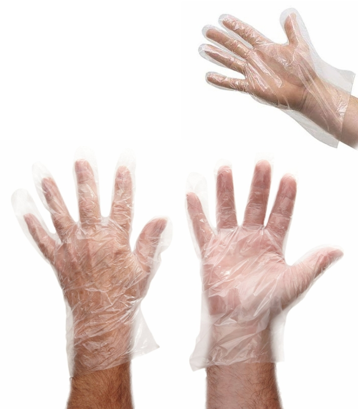 Disposable Plastic Polythene Gloves Large Size - C
