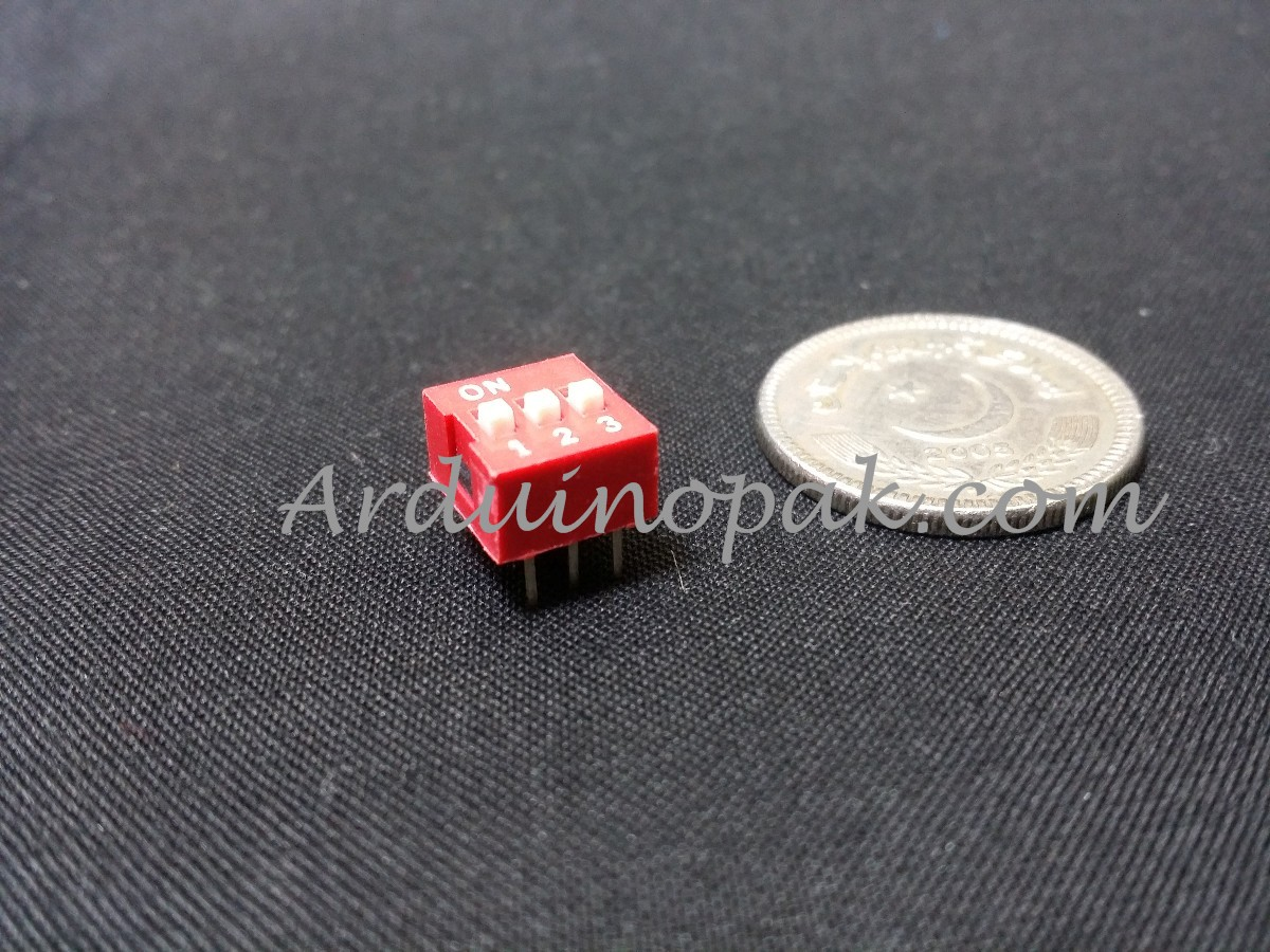 DS-03 flat dial switch 3 bit code switch 2.54mm pi
