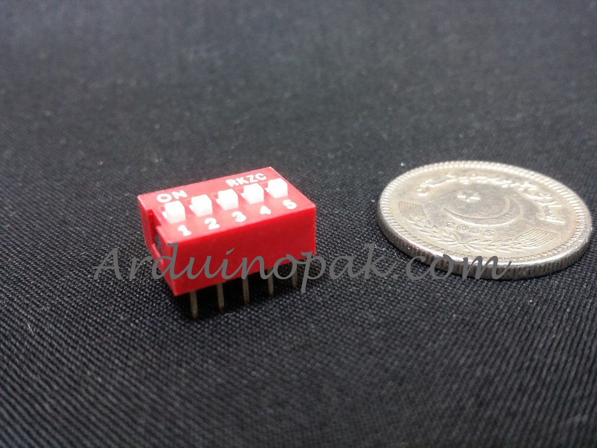 DS-05 flat dial switch 5 bit code switch 2.54mm pi
