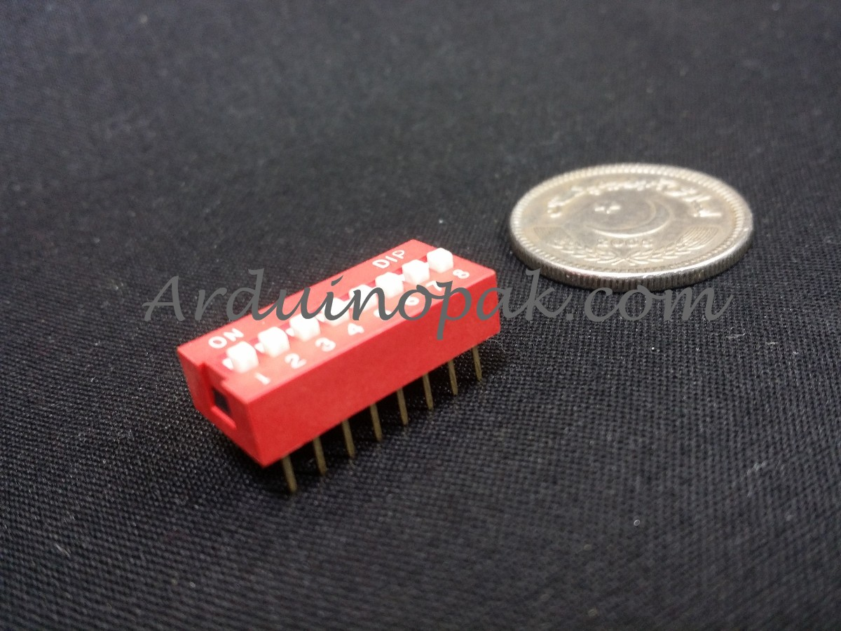 DS-08 flat dial switch 8 bit code switch 2.54mm pi
