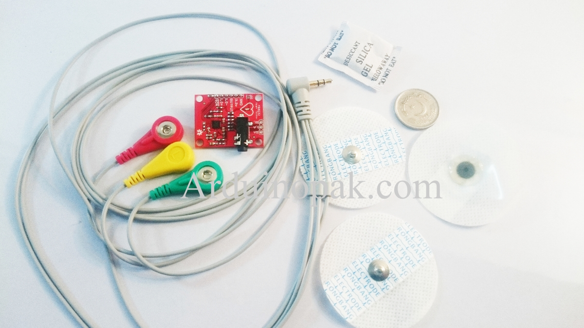 Single Lead AD8232 Heart Rate Monitor ECG Develope