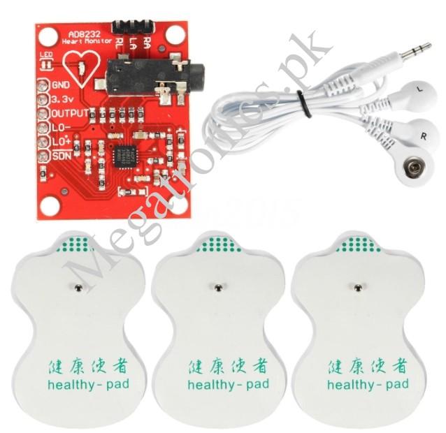AD8232 ECG Heart Pulse Monitor Kit Sensor Module