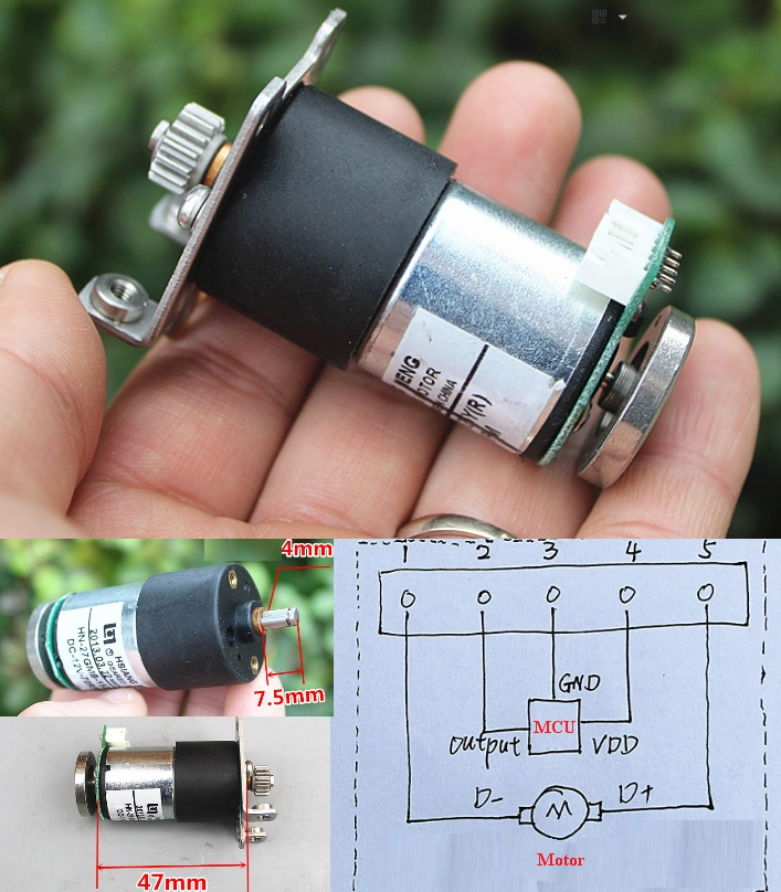 Metal DC12V 70RPM High torque Encoder gear motor