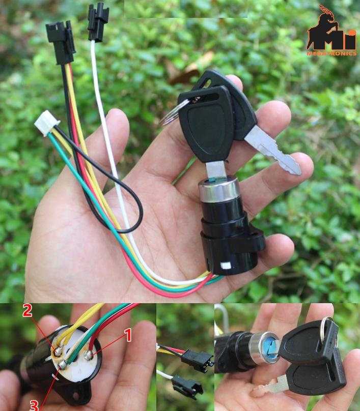 Electric car switch door lock power supply lock me