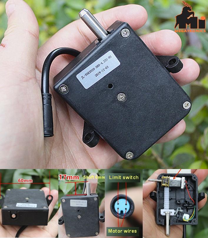Electronic lock retractable DC motor electric door lock switch movement linear p