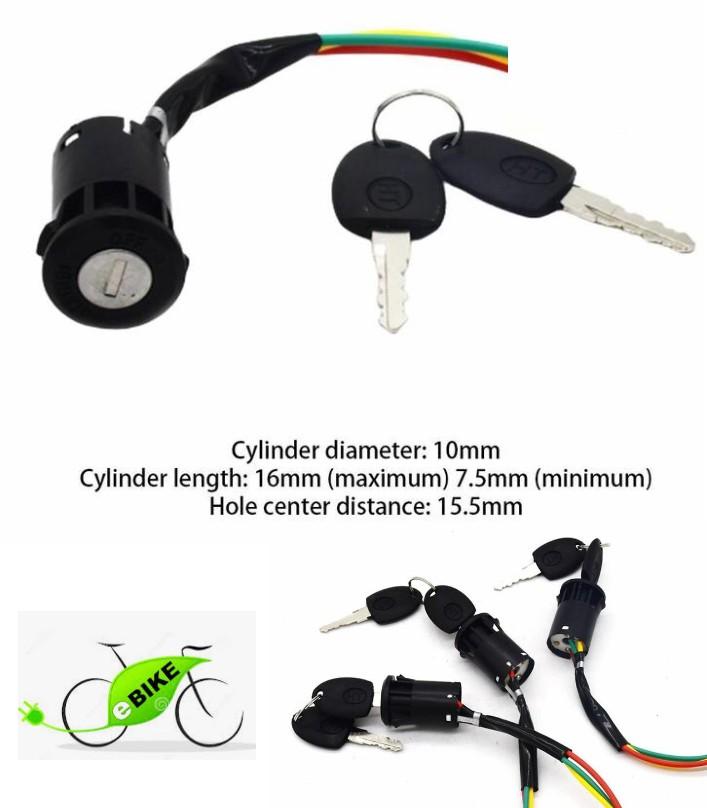 Electric Bike Middle Head Lock power Switch Door L