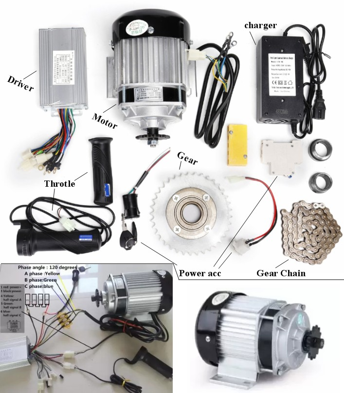 48V 500W electric bicycle kit BM1418ZXF E-Tricycle