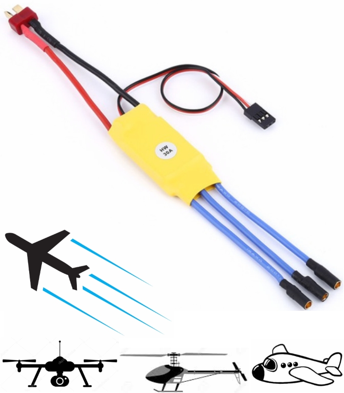 30A ESC Brushless Motor Speed Controller RC drones