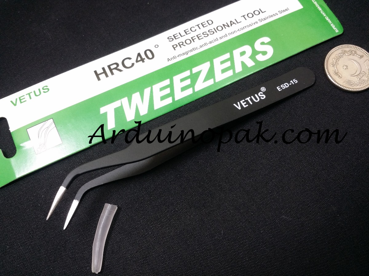 Vetus ESD-15 tweezer Heat Resistant anti static Ce