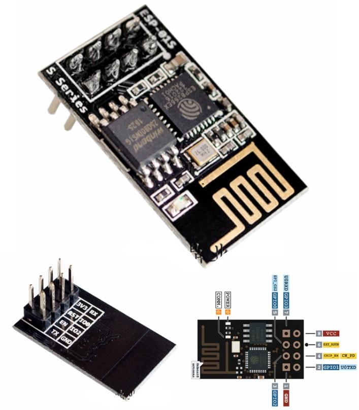 ESP-01S Wifi ESP8266 1MB Module
