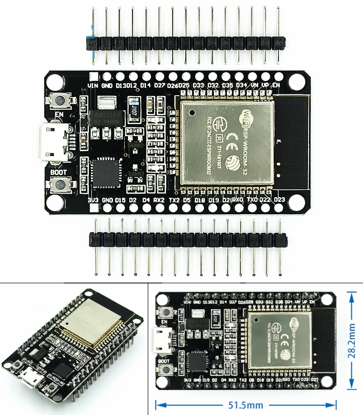 ESP-32 Development Board WIFI + Bluetooth 2 in 1 D