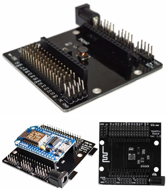 NodeMcu Base ESP8266 shield Testing DIY Board