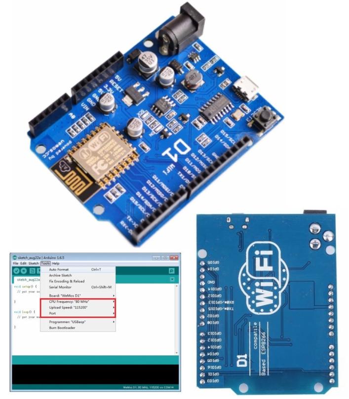 WeMos D1 WiFi UNO ESP8266 Development Board