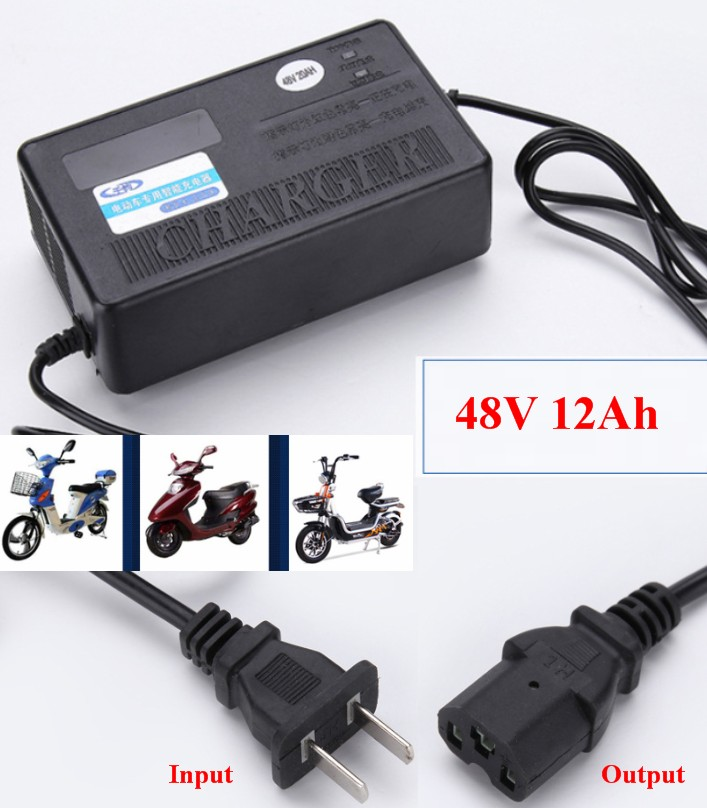 Ebike Electric bicycle charger 48V 12Ah Deep Cycle