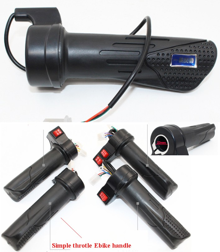 Electric bicycle ebike throttle handle accelerator