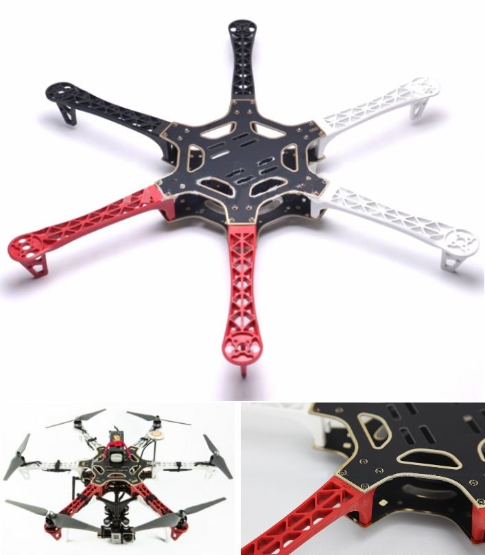 DJI Flamewheel F550 Frame Hexcopter chassis
