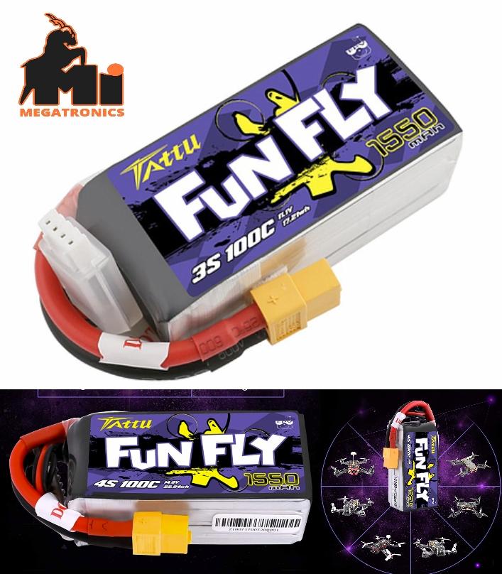 TATTU FUNFLY SERIES Racer 1550mAh 3S 11.1V 100C Lipo Battery