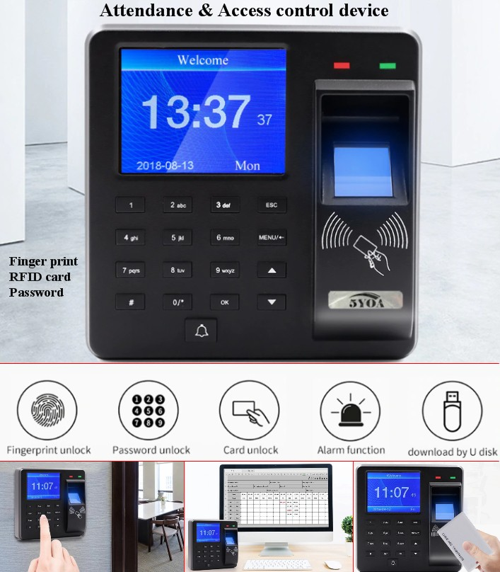 X10 Time Attendance Fingerprint Access Control All