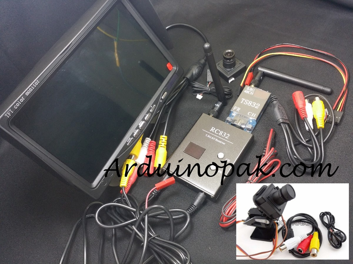 FPV RC832 TS832 and 7 inch LCD and Camera set AV A