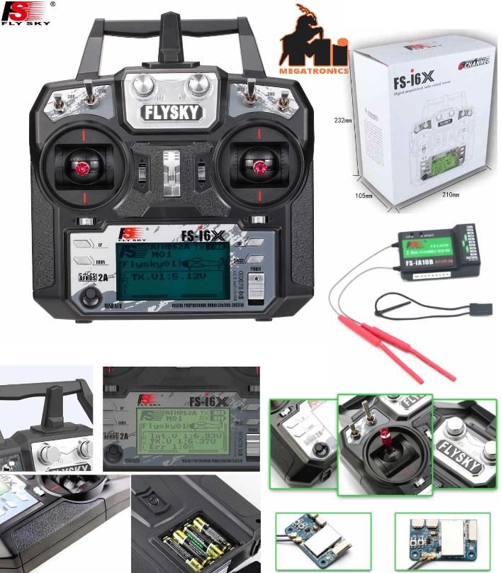 Flysky 10CH FS-i6X I6X 2.4GHz FS-iA10B Transmitter
