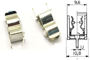 PCB Fuse Clip 15A  Circuit Cartridge