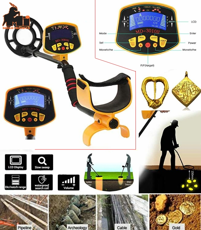 MD-3010II Underground Metal gold digger Detector H