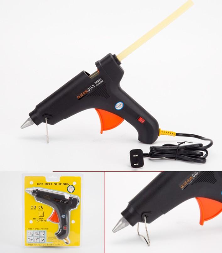 GG-5 11mm Melt Glue Gun Black 100W Power Switch Di