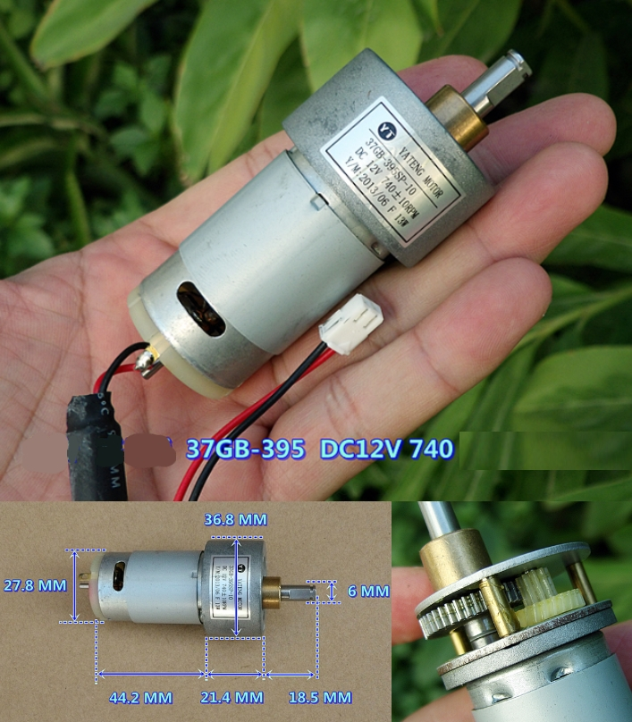 HQ 37GB-395 DC 12V 740RPM gear motor high torque
