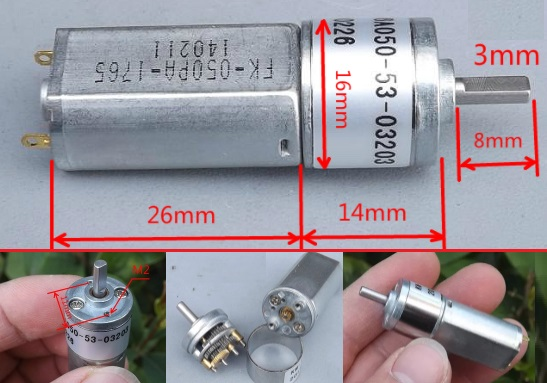 5V 380RPM metal Gear motor high torque