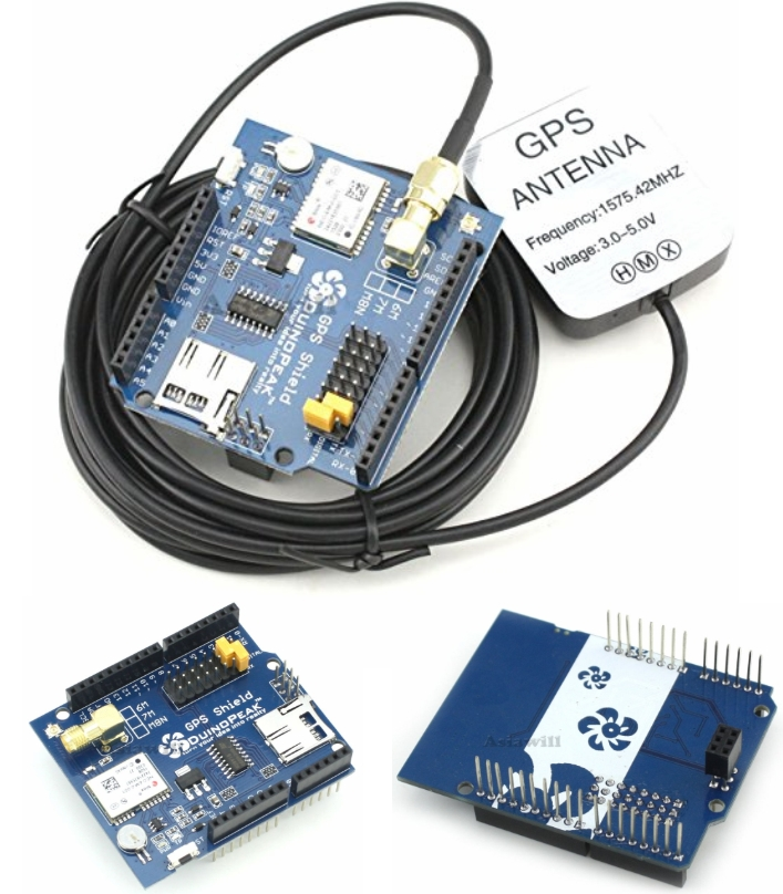 NEO-6M GPS Shield for Arduino with GPS Antenna