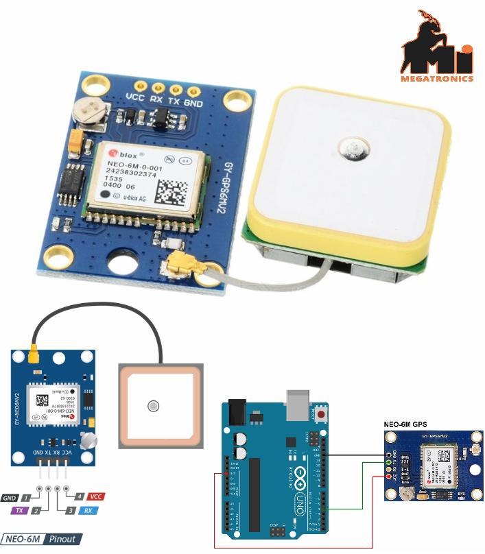 U-BLOX NEO-6M latest version GPS module Arduino GY-NEO6MV2 GY-NEO-6M