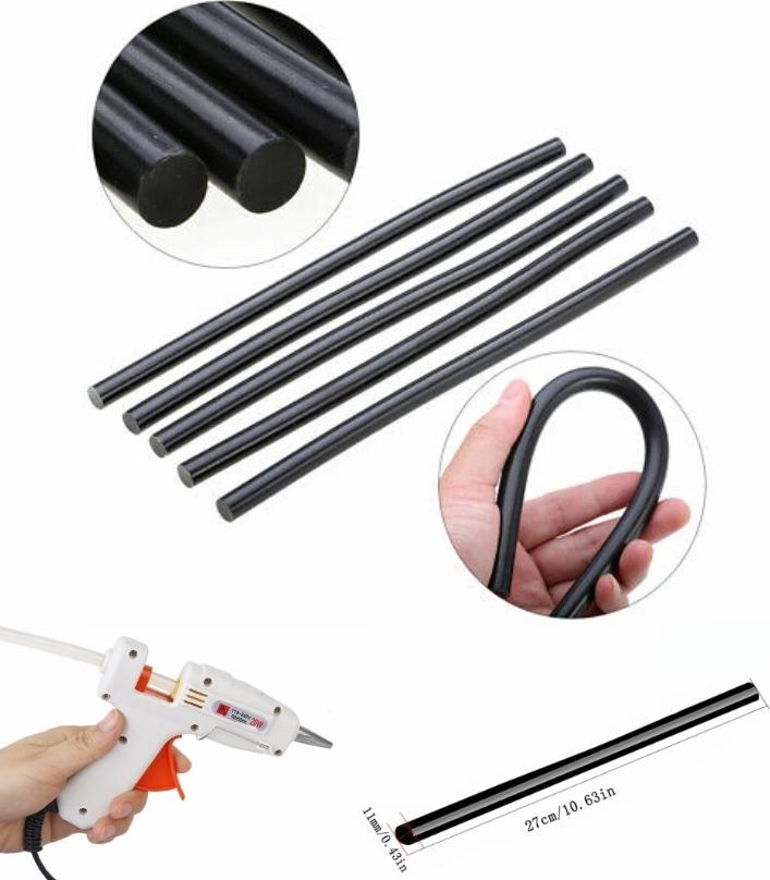 11mm 270mm Black Hot Glue Stick Adhesive Rod Hot M
