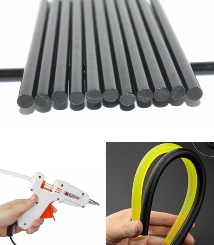 7mm Black Hot Glue Stick Adhesive Rods Hot Melt