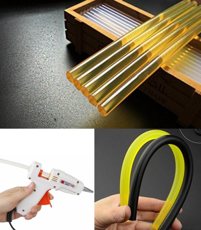 7mm Yellow Hot Glue Stick Adhesive Rods Hot Melt
