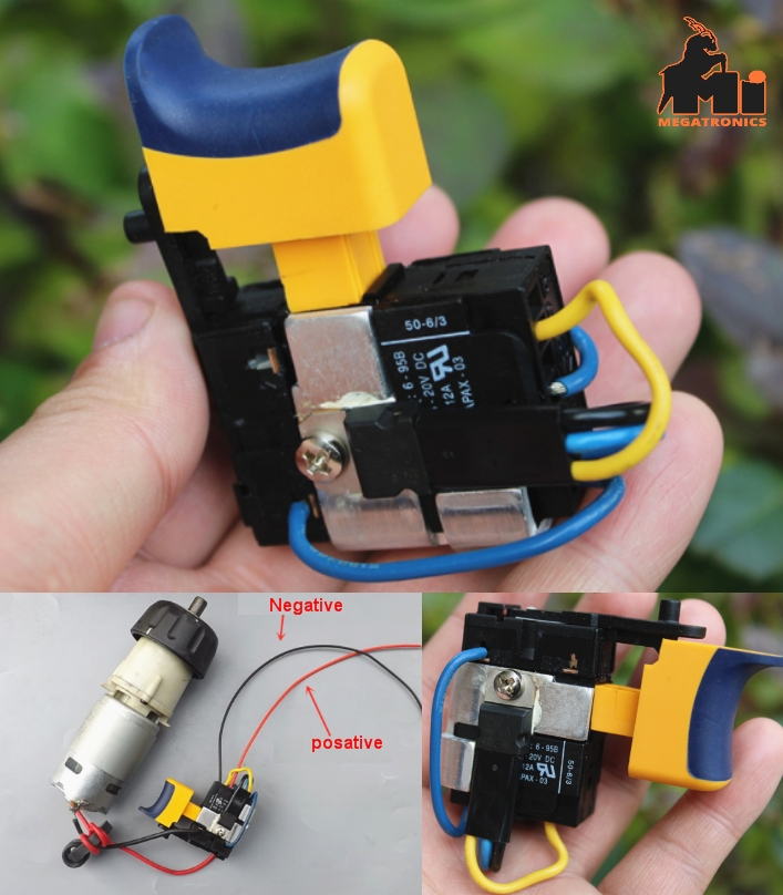 12V DC Gun type drill switch pistol switch drill s